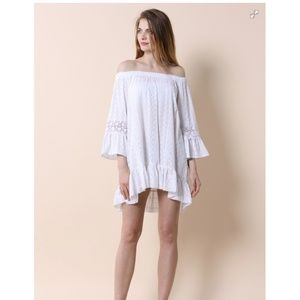 NWT Chicwish white off the shoulder dress